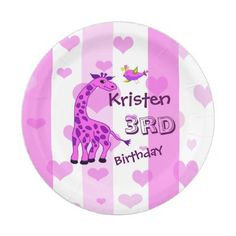 N monogram initials with dark background wrapping paper giraffe illustration in pink color paper plate negle Image collections