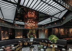 Mott 32 in Hong Kong is a story of discovery. The restaurant has a narrative from its former life as a storage facility for family heirlooms forgotten by wealthy Chinese immigrants, and later as staff quarters for bank employees and guards. Restaurant Concept, Cafe Restaurant, Restaurant Design, Industrial Restaurant, Restaurant Ideas, Date Night Restaurants, Best Interior, Interior Design, Cafe Design