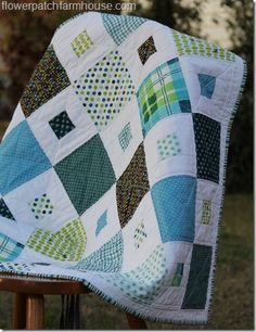 Square in Square Baby Quilt | Flower Patch Farmhouse