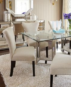 Sophia Dining Room Furniture 7 Piece Set 76 Table And 6 Side Chairs The New House Pinterest Chair Living Rooms
