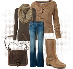 """Fall Style Bold Browns"" by anne-ratna on Polyvore"