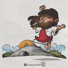 Luciano Fortunato Ramos (@lucianofr32) • Fotos e vídeos do Instagram Bible Cartoon, Jesus Cartoon, Jesus Artwork, Jesus Is Alive, King Of Kings, Jesus Loves Me, Jesus Christ, Faith, Fan Art