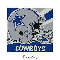 DALLAS COWBOYS Peyote 2 Drop Bead by CajunsDesignPatternS on Etsy, $14.00