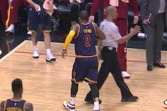 Kyrie Irving injures left knee stepping on teammate