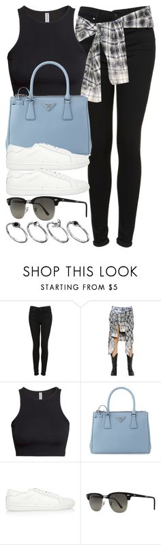 """""""Style #8815"""" by vany-alvarado ❤ liked on Polyvore featuring Topshop, Faith Connexion, H&M, Prada, Yves Saint Laurent, Ray-Ban and ASOS Curve"""