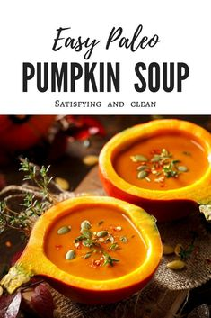 Rich, savory and so healthy! Whole 30 - Savory Italian Sausage & Pumpkin Soup - Martin Faith and Fitness Fall Soup Recipes, Pumpkin Recipes, Clean Eating Recipes, Healthy Recipes, Gluten Free Soup, Dairy Free, How To Cook Sausage, Pumpkin Soup, Whole 30 Recipes