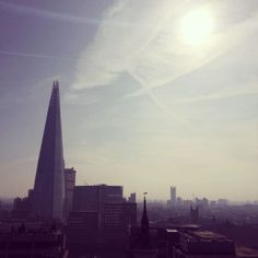 Sunlight beams over London rooftops 16°C I 60°F #BurberryWeather