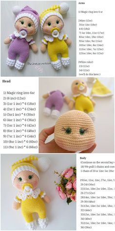 plus - Amigurumi Doll Pacifier Baby Free Crochet Pattern – Crochet.plus Amigurumi Doll Pacifier Baby Free Crochet Pattern – Crochet.plus Blog Crochet, Crochet Bear, Crochet Animals, Crochet Toys, Free Crochet, Crochet Dolls Free Patterns, Crochet Doll Pattern, Amigurumi Patterns, Cat Pattern