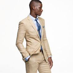 Classic Camel Linen Suit | Men fashion, Menswear and Costumes
