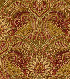 Home Decor Fabrics-Waverly Toraja Crimson Fabric & home decor print fabric at Joann.com