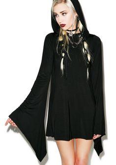 Kill Star Witch Hood Flare Dress | Dolls Kill