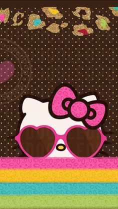 Hello Kitty Backgrounds, Hello Kitty Wallpaper, Pink Hello Kitty, Little Kitty, Plain Wallpaper Iphone, Wallpaper Backgrounds, Cool Lock Screens, Hello Kitty Pictures, Pink Fashion