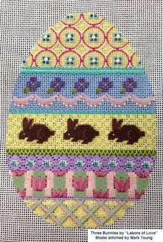 May Market News from The Nimble Needle, Kirk  Bradley needlepoint Easter Egg