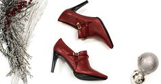 Mid-heel and pointed toe boots for your rock and comfortable outfit in red by Hispanitas Ref. HI51918