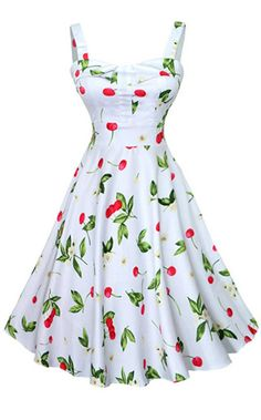 Looking for Summer Women Vintage Dress White Cherry Print High Waist Dress Feminino Vestidos ? Check out our picks for the Summer Women Vintage Dress White Cherry Print High Waist Dress Feminino Vestidos from the popular stores - all in one. Retro Mode, Vintage Mode, Retro Vintage, Vintage Style, Vintage Inspired, Wedding Vintage, Vintage Tea, Retro Style, Vintage Outfits