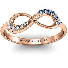 Infinity Accent Ring | nice anniversary idea