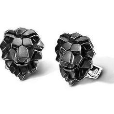 John Hardy classic chain collection lion head cufflinks