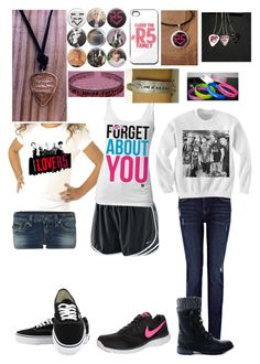 """R5"" by ya-borrego ❤ liked on Polyvore featuring mode, Oasis, NIKE, True Religion en Vans"