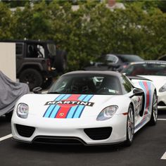 Porsche 918 Spider w/ Weissach Package and Martini Racing Livery  Photo taken by: @nyexoticcars on Instagram