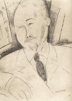 amare-habeo: Amedeo Modigliani (Italian, 1884-1920) - Portrait of Guillaume Appollinaire, N/D