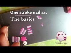 PiggieLuv: One stroke - the basics (with video tutorial!)