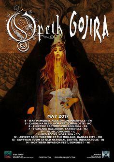 Opeth announces Spring 2017 U.S. Tour Dates #Opeth #Gojira  #Spring2017USTour #Sorceress