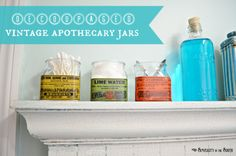 decoupaged vintage apothecary jars: simplicity in the south