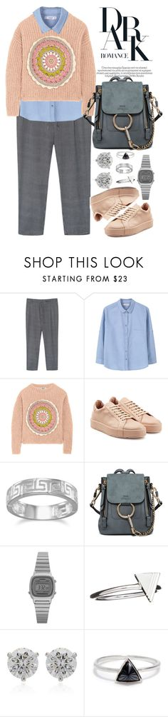 """Без названия #4588"" by catelinota-a ❤ liked on Polyvore featuring Violeta by Mango, MANGO, Moschino Cheap & Chic, Jil Sander, BillyTheTree, Chloé, Casio, Rachel Jackson, Elizabeth Kennedy and Bing Bang"