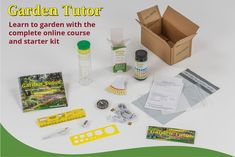 Garden Tutor Course and Kit - National Garden Bureau Member - Garden Tutor can teach anyone how to design, install, and maintain the garden of their dreams.
