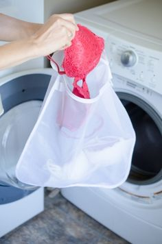 Wash delicates in a mesh bag or pillowcase to make them last longer.