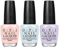 OPI Soft Shades Pastel Spring 2016 Collection