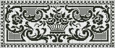 Doily or panel | Chart for cross stitch or filet crochet.
