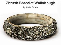 Drawing Step By Step Zbrush Bracelet by Chris Brown. Small walk-through I created to show the steps I used to create this bracelet in zbrush. - Small walk-through I created to show the steps I used to create this bracelet in zbrush. Zbrush Tutorial, 3d Tutorial, Sculpting Tutorials, Art Tutorials, Solidworks Tutorial, Zbrush Character, Digital Sculpting, 3d Drawings, Chris Brown