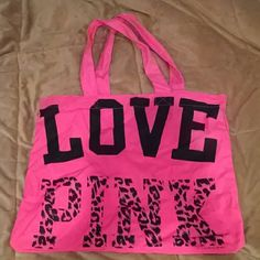 Love Pink tote bag New, never used  Victoria's Secret Love Pink bag Open to offers :) Victoria's Secret Bags Shoulder Bags