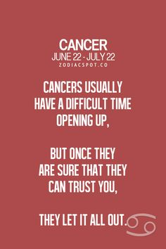 Cancer Zodiac Sign ♋ Welcome to my life. Cancer Zodiac Traits, Cancer And Pisces, Cancer Horoscope, Cancer Moon, Zodiac Horoscope, Cancer Zodiac Signs, Cancer Astrology, My Zodiac Sign, Zodiac Quotes