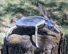 Paon en métal Sculpture cour jardin doiseau Art Cour Art