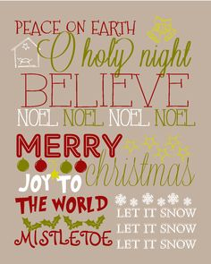 Here is the new Christmas Subway Art/Christmas Printable I made. I will be making one for every holiday and then I'm going to print them out...