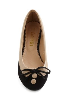 Collar Me Maybe Flats in Coal Cover | Mod Retro Vintage Flats | ModCloth.com