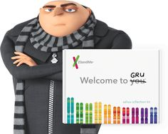 Gru ordered his kit from 23 and Me. See his results.