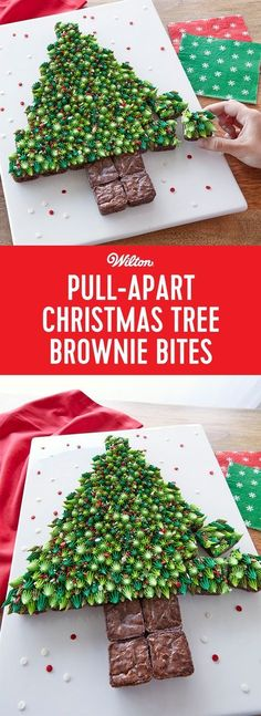 pull apart christmas tree brownie bites how fun is trimming the tree when it s made of bite size brownies make this cute christmas tree made out of mini