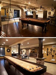 Unfinished Basement Ideas - Transform your unfinished cellar right into gorgeous, practical space. Mounting cellar wall surfaces and ceilings is the core of any kind of cellar finishing project. Game Room Basement, Basement Bedrooms, Basement Ideas, Basement Bathroom, Basement Plans, Basement Stairs, Basement Shelving, Industrial Basement, Game Room Bar
