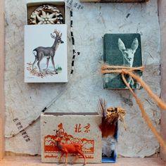 mano kellner, project 2015, kunstschachtel / art box nr 34/2015, rehe /deer  - detail - (sold)
