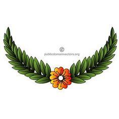 Vector illustration of floral decoration. Image of floral chaplet.