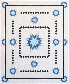 Wondering Star by Stitches by Brenda Clyde | Stitches from Heaven.  Designer pattern for Island Batik.