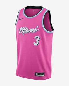 5f92fbed143 Dwyane Wade Earned City Edition Swingman (Miami Heat) Men s Nike NBA  Connected Jersey Dwyane