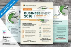 Multi-purpose Business Event Flyers by kinzi21 on @creativemarket