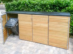 Garden Spaces, Balcony Garden, Bin Store Garden, Outdoor Storage Bin, Bin Shed, Garbage Shed, Fence Gate Design, Floor Molding, Open House Plans