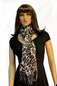 Pashmina Brown Fringed Shoulder Wrap Scarf in Delicate Giraffe Print Dabung,http://www.amazon.com/dp/B00G3GW0WQ/ref=cm_sw_r_pi_dp_PWL.sb0RDSG8A020