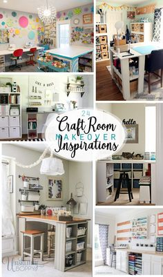 Here are 24 amazing craft rooms that I've curated to inspire you (and me)! #craftrooms via #inspirationspotlight