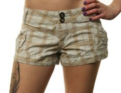Buy Billabong Women's Tan Plaid Official Surfrider Foundation Short Shorts-Size 7 Large selection at low prices - http://bestcomparemarket.com/buy-billabong-womens-tan-plaid-official-surfrider-foundation-short-shorts-size-7-large-selection-at-low-prices